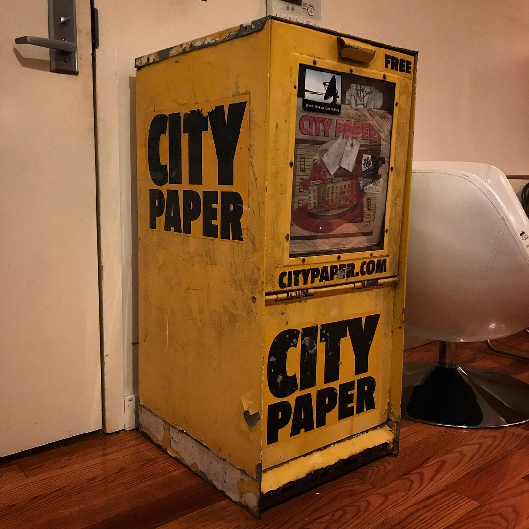 City Paper newspaper box